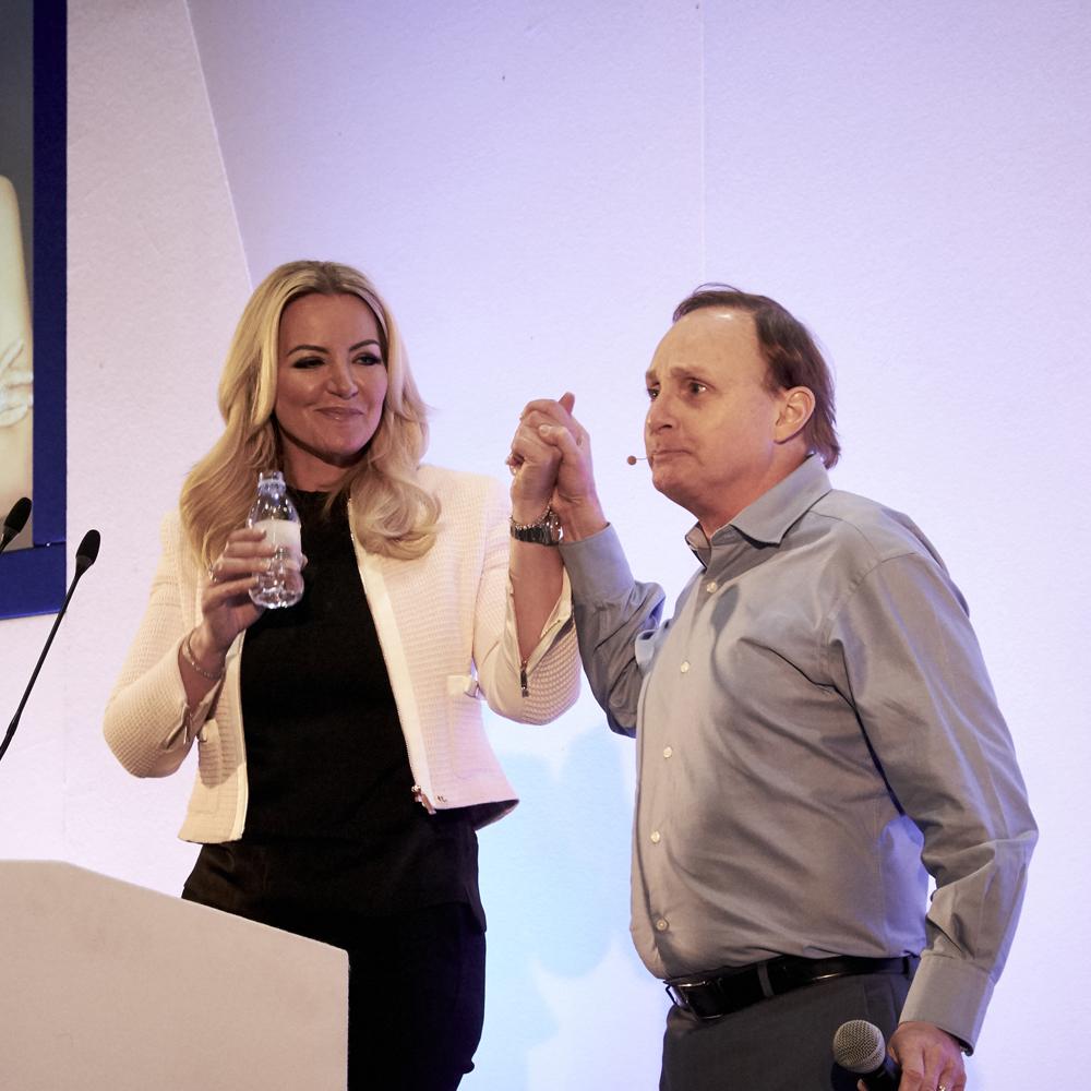 Leadership training sq Paul Boross with Baroness Michelle Mone